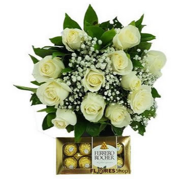 2650 Bouquet Rose White